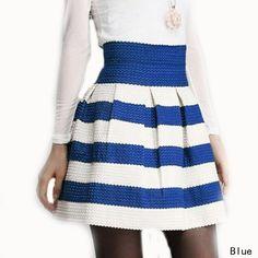faldas de moda de rayas cortas de colores - Buscar con Google