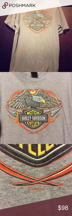 Vintage 1990s Harley Davidson T Shirt Vintage 1990s Harley Davidson T Shirt Power train Tour Milwaukee Wisconsin Large Wow!   • 1998 HD T Shirt - True Vintage / one owner • Gray Tee Harley-Davidson Shirts