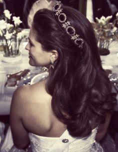 Princess Madeleine of Sweden :: beautiful crown :: gorgeous hair