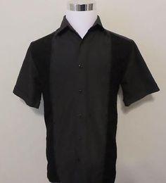 2XL US M Steady BIG DADDY Panelled Rockabilly Bowling Shirt Rust