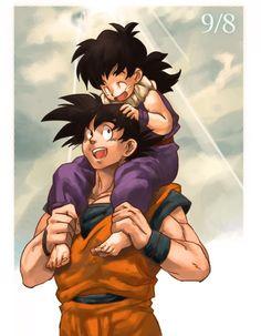 paseo en hombros, Gohan y su padre