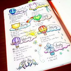 another dailies page done! Hot air balloons galore! I would love to ride one someday :) I also attempted some handlettering...it is harder than it looks! #handlettering #dailies #fly #bujo #bujojunkies #bulletjournal #bulletjournaljunkies #planneraddict #plannerlove #plannergirl #showmeyourplanner #may #plannergeek