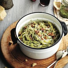 Pesto kale pasta - There are so many superfoods in this pesto, you'd be forgiven for assuming it won't taste as delicious as it does. Chatelaine