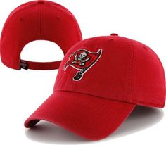 detailed pictures 68ea4 e5394 NFL Tampa Bay Buccaneers Clean Up Adjustable Hat, Red, One Size Fits All by