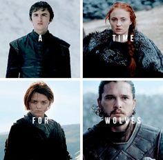 Bran Stark, Sansa Stark, Arya Stark & Jon Snow - Game of Trones Casas Game Of Thrones, Got Game Of Thrones, John Snow, Sansa Stark, Bran Stark, Ned Stark, Khal Drogo, Winter Is Here, Winter Is Coming