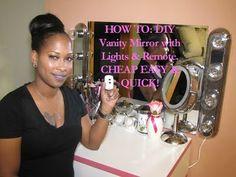 DIY Vanity Mirror With Lights