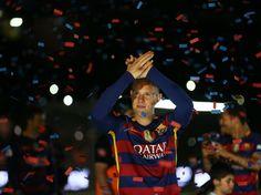 Ter Stegen celebrando título de Liga y Copa del Rey 2015-2016 (doblete) por parte del Barça en el Estadio Camp Nou.
