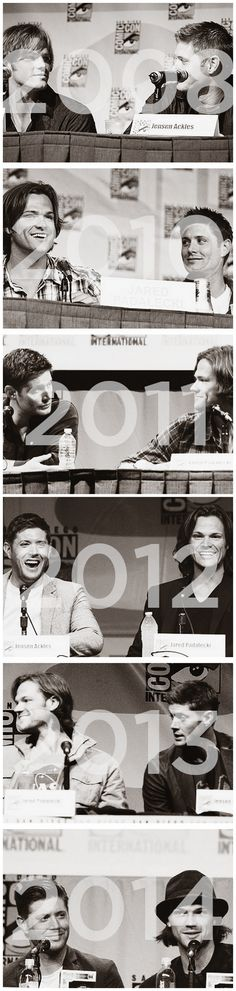 Jensen Ackles and Jared Padalecki at San Diego Comic Con throughout the years :)