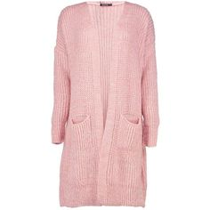 Boohoo Alicia Oversized Boyfriend Cardigan ($35) ❤ liked on Polyvore featuring tops, cardigans, pink turtleneck, wrap top, oversized wrap cardigan, chunky oversized cardigan and boyfriend cardigan