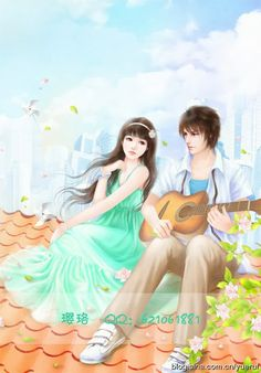 That's a dream, a fantasy, something i'd love to do with you one day to just sit and listen to you sing and play your guitar. Love Cartoon Couple, Cute Couple Art, Anime Love Couple, Cute Love Wallpapers, Cute Girl Wallpaper, Anime Couples Manga, Cute Anime Couples, Cute Images, Cute Pictures