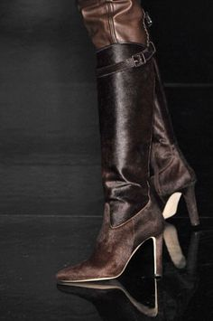 Jean Paul Gaultier High Heeled Brown Boots #Shoes #Heels