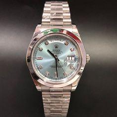 Rolex 218206 Daydate II Ice Blue Diamond Platinum (2010) WA : 628121067189  : 021-7209021 https://mulialegacy.com