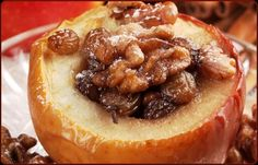 Roasted Apples With Dried Fruit, Nut, and Cheese Stuffing