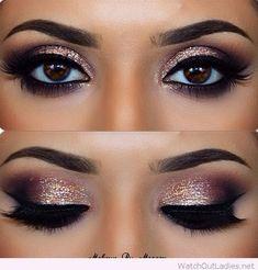 Smokey Eye Make-up - MakeUp Inspiration & Brands - Eye-Makeup Pretty Makeup, Love Makeup, Makeup Inspo, Makeup Inspiration, Makeup Tips, Makeup Ideas, Amazing Makeup, Makeup Tutorials, Makeup Designs