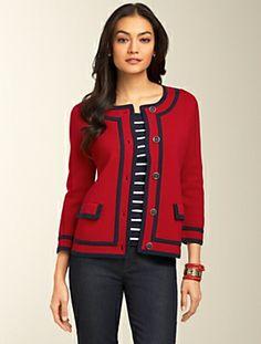 Talbots - Rib-Knit Sweater Jacket | Sweaters | Misses