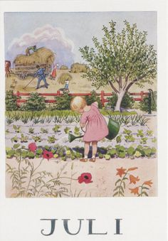 Elsa Beskow - Swedish (1874-1953) vintage postcard summer