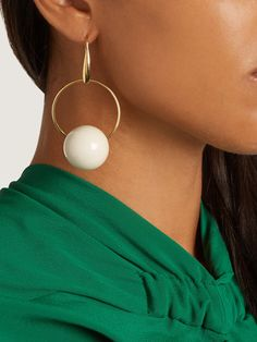 Click here to buy Marni Hoop and sphere drop earrings at MATCHESFASHION.COM