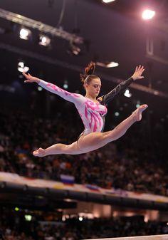 Elisabetta Preziosa on balance beam at the 2011 European Championships in Berlin