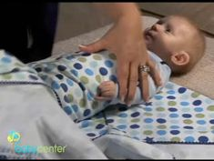 How to swaddle a baby - the way i've most seen how to make a baby burrito