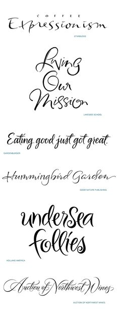 Script calligraphy collection by Iskra
