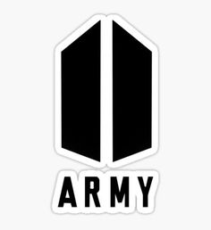 BTS stickers featuring millions of original designs created by independent artists. Pop Stickers, Tumblr Stickers, Printable Stickers, Army Wallpaper, Bts Wallpaper, Logo Sticker, Sticker Design, Bts Army Logo, Bts Tattoos