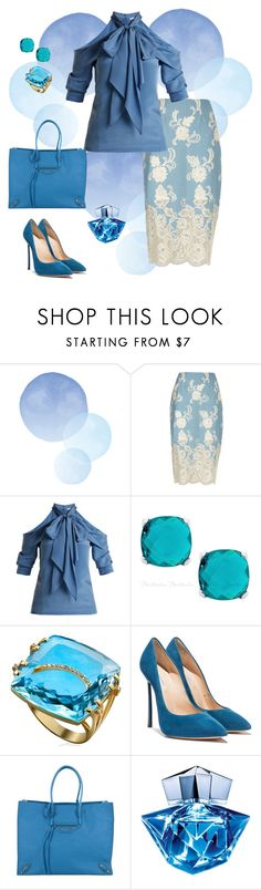 """""""Blue 💙"""" by parnett ❤ liked on Polyvore featuring River Island, Erdem, Balenciaga and Thierry Mugler"""