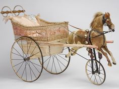 Rare Horse Drawn Baby Carriage