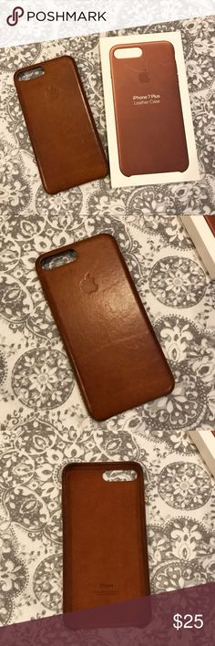 Apple iPhone 7 Plus Leather Case - Saddle Brown Still in great condition! Used for about 3-4 months and comes with the box Apple Accessories Phone Cases