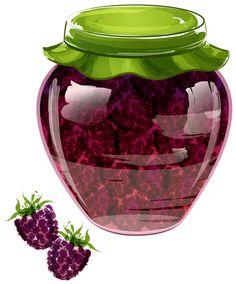"Photo from album ""Варенья, соленья"" on Yandex. Grape Jam, Grape Jelly, Jam And Jelly, Decoupage, Owl Clip Art, Food Clipart, Jar Art, Cream Tea, Fruit Art"