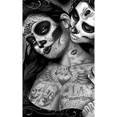 """Tradicionalmente, los tatuajes (tattoo) de calaveras mexicanas han simbolizado la muerte con una """"M"""" mayúscula, ¡pero no de una manera siniestra o negativa! Si hay un hecho innegable en este planeta, es que ningún ser humano escapa de la Parca, por rico o famoso que sea.! Sugar Skull Mädchen, Sugar Skull Artwork, Sugar Skull Tattoos, Arte Cholo, Cholo Art, Chicano Art, Kunst Tattoos, Body Art Tattoos, Tattoo Drawings"""