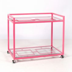 Caneel Bay Bar Cart - Pink