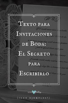 Texto para invitaciones de boda: El secreto para escribirlo.