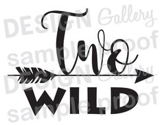 Two Wild Arrow - Instant Download DIY - JPG image & SVG cut - Printable Iron On - second birthday baby bohemian tribal aztec feather wild one wild and three where the wild things are birthday party