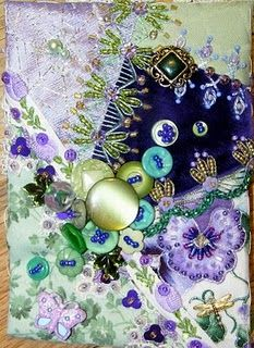 Great colors feels so springy #quilt #crazy #embellish #button #embroider