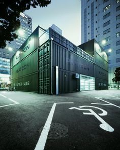 Platoon Kunsthalle: A building made entirely of shipping containers