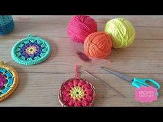Crochet Mandala, Crochet Granny, Diy Crochet Patterns, Crochet Projects, Crochet Keychain, Crochet Earrings, Jesus Tattoo, Crochet Videos, Crochet Gifts