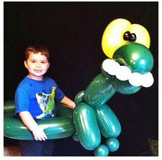 Dinosaur balloon animal #dinosaur  #balloon #animal #sculpture #twist #art