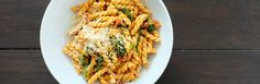 Tomato Pasta with Bacon and Arugula Recipe from Jessica Seinfeld