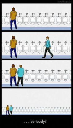 Problème dans les urinoirs