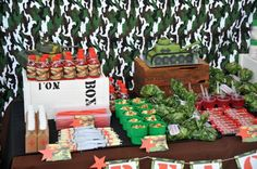 Army Birthday Party Theme Camouflage