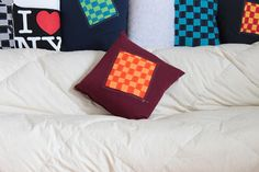 Recycled Tee Shirt Woven Pillow