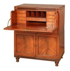 Georgian Secretaire Campaign Chest | From a unique collection of antique and modern desks and writing tables at https://www.1stdibs.com/furniture/tables/desks-writing-tables/