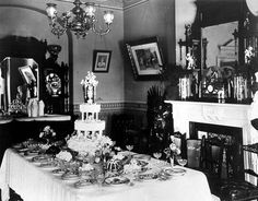 Wedding brunch table setting - 1910