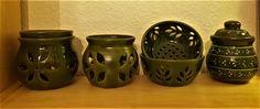 Zöld mázas egyveleg Pottery, Jar, Ceramics, Home Decor, Ceramica, Ceramica, Decoration Home, Room Decor, Pottery Marks