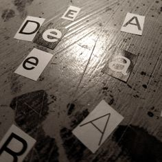 Playing with letters...