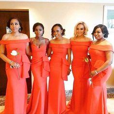 Loving these bridesmaids dresses! What do you think? #munabridesmaids #munaluchi | #Repost @aprilbykunbi Gisselle's ladies . #Bridesmaids #Dresses #Bridal