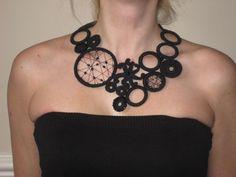 Black crochet necklace. £30,00, via Etsy.