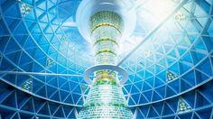 Shimizu, Die transparente Kugel mit einem halben Kilometer Durchmesser soll Platz für 5000 Bewohner bieten