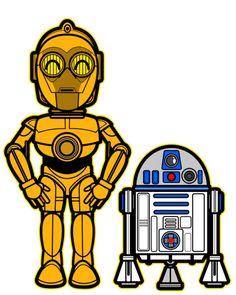 Kawaii C3-PO and R2-D2