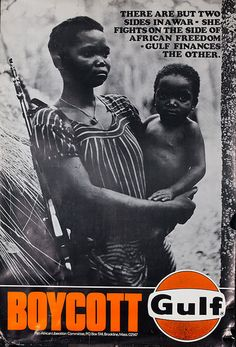 vintage african posters | DP Vintage Posters - Boycott Gulf Original Pan-African Liberation ...